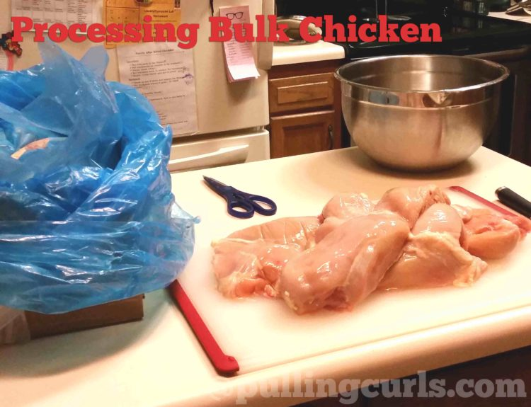 Processing chicken in bulk can save time and sanity, and less germs.