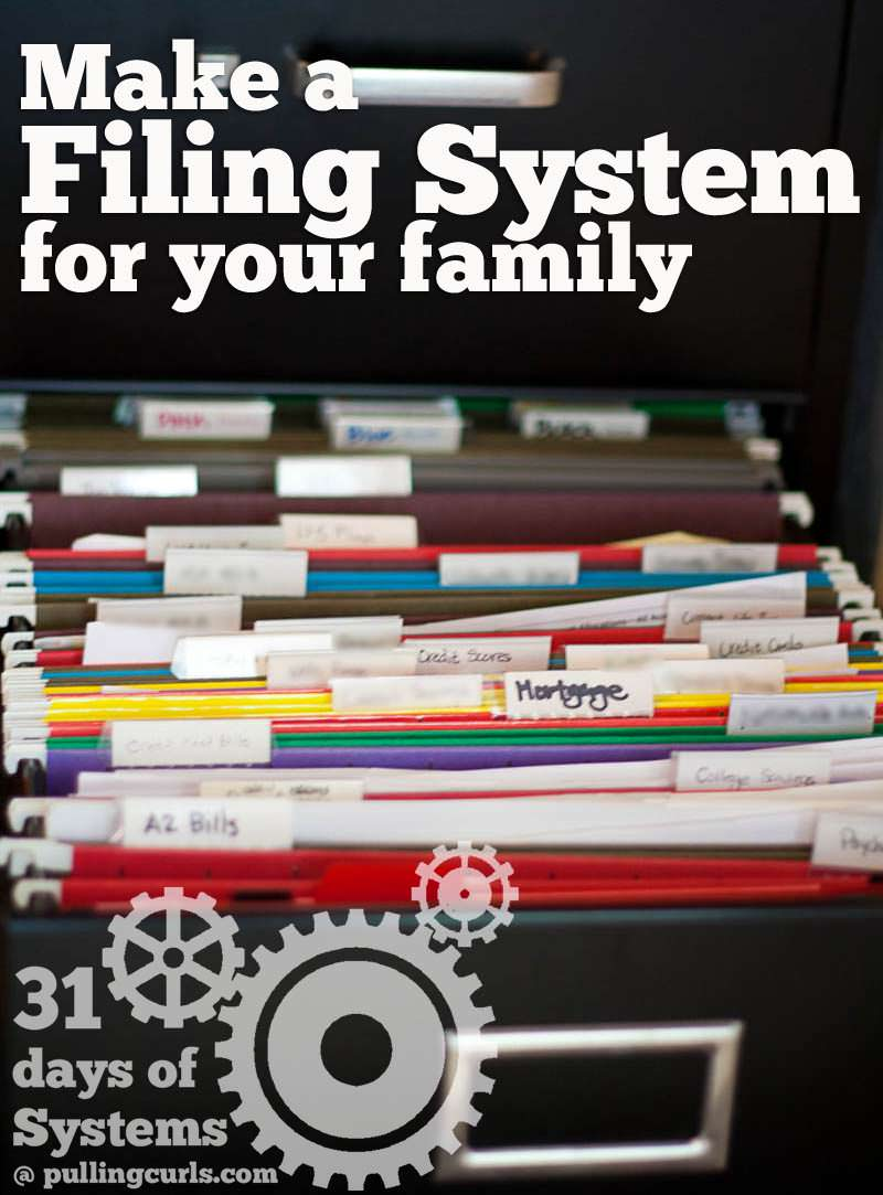Using a filing system will save you time looking for the documents you need NOW!