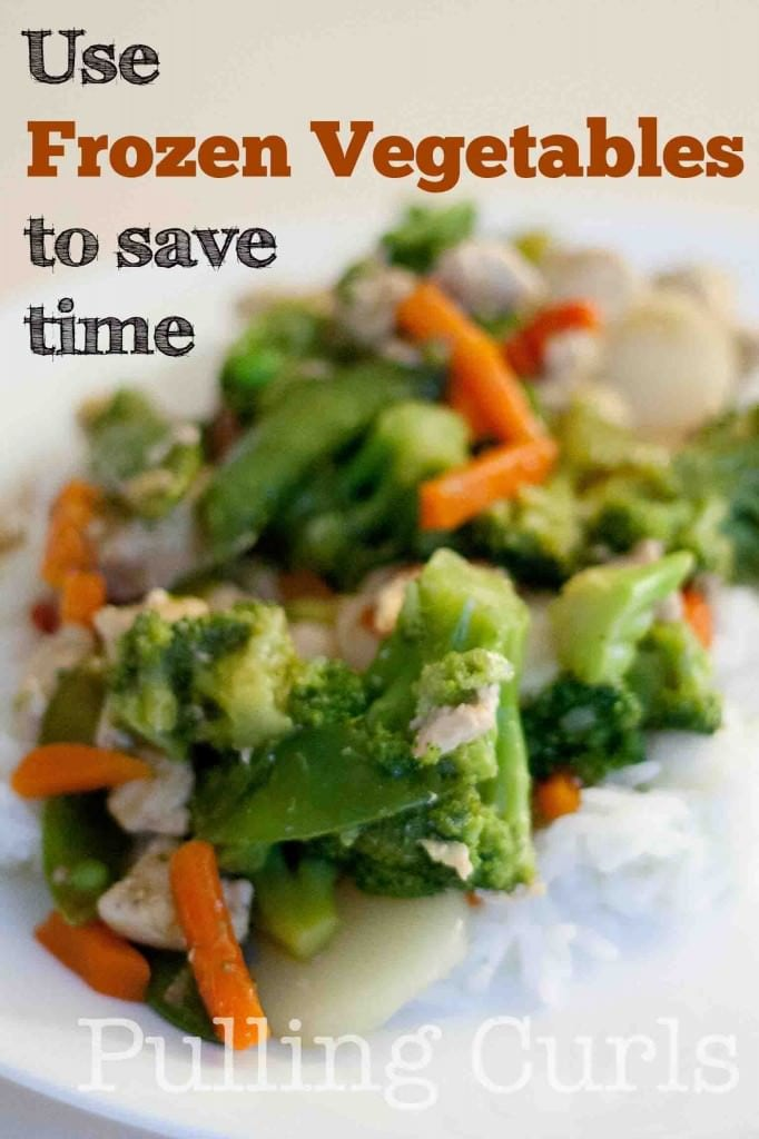 Use frozen vegetables to pack in the vitamins and the convenience of frozen foods!