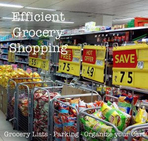 Grocery shopping efficently is something you need to work on.  Otherwise you are left confused and over-buying.