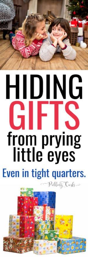where to put Christmas gifts / birthday presents / storage / kids