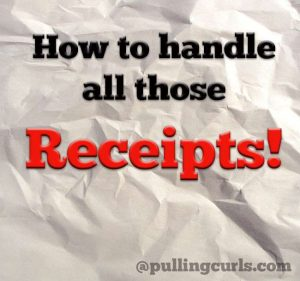 Learn how to organize receipts so you have the papers on hand when you need them.