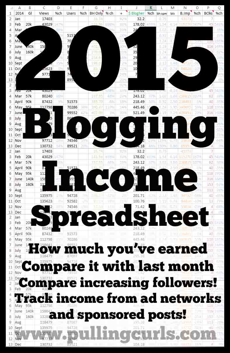 This blogging income helps you track views, followers, income and expenses!