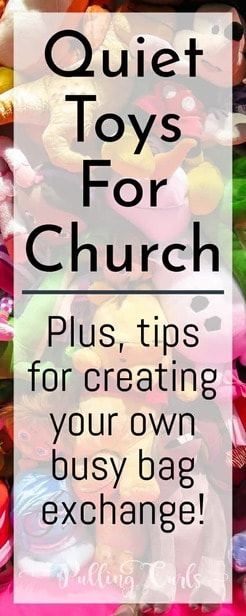 Busy bags for church can help your child enjoy church AND learn and grow in so many ways -- setting up an exchange is EASY!  Let me show you how!