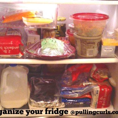 Keeping your fridge organized can help you in meal preparation.