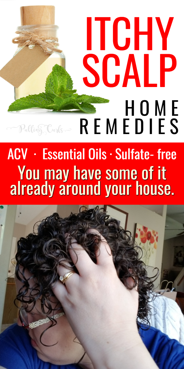 An extremely itchy scalp and neck cries out for treatment.  It can be SO embarrassing not to mention annoying.  We're going to talk apple cider vinegar, essential oils to help fix it! #acv #eo #scalp