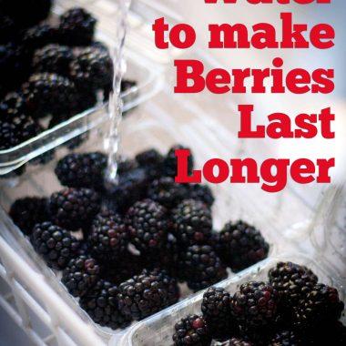 Use vinegar to rinse berries to help them last longer {wierd things that work}.