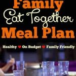 March Family Meal Plan