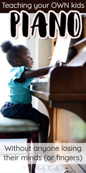 teaching your kids piano