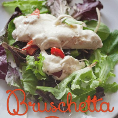 Bruschetta chicken is a quick, tasty meal that your whole family will enjoy!