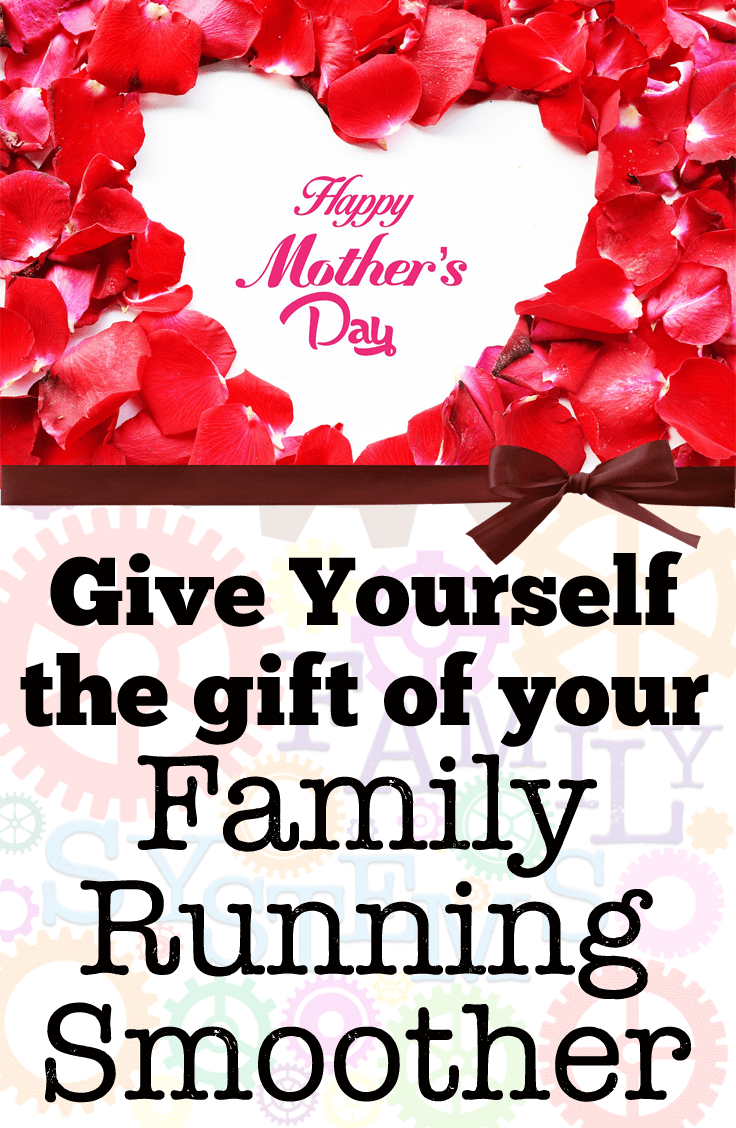 Give Yourself the gift of helping your home run more smoothly this Mother's Day.  My Family Systems book is on SALE!