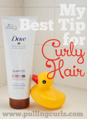 Curly hair lacks moisture. This one tip can help fix that!
