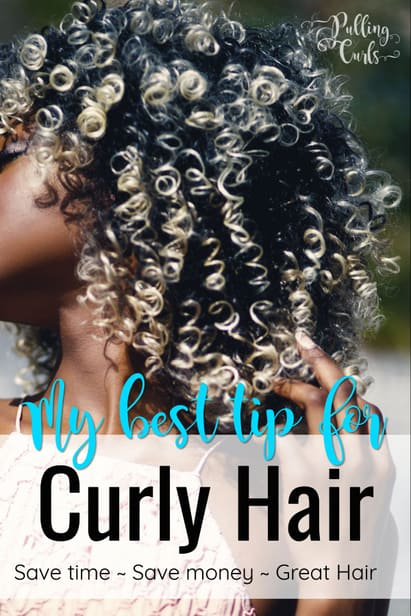 This curly hair tip will save you time, money, and effort -- and it's JUST smart -- from your favorite curly blogger. :)