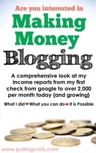 Have you thought you'd like to make money blogging, but didn't really think it was possible. I'm here about 18 months into it making over 2,000 per month. It IS possible, and you can read about my journey here.