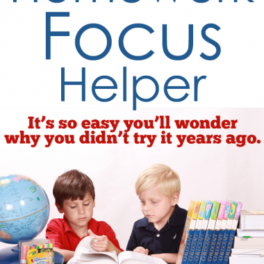 This project will hlep your kids FOCUS on their homework rather than what they're doing usually. Brains on task, that's what I need!