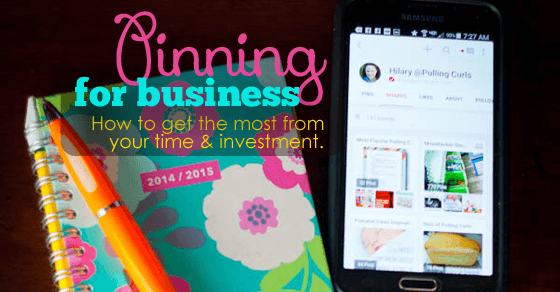 pinning for business fb