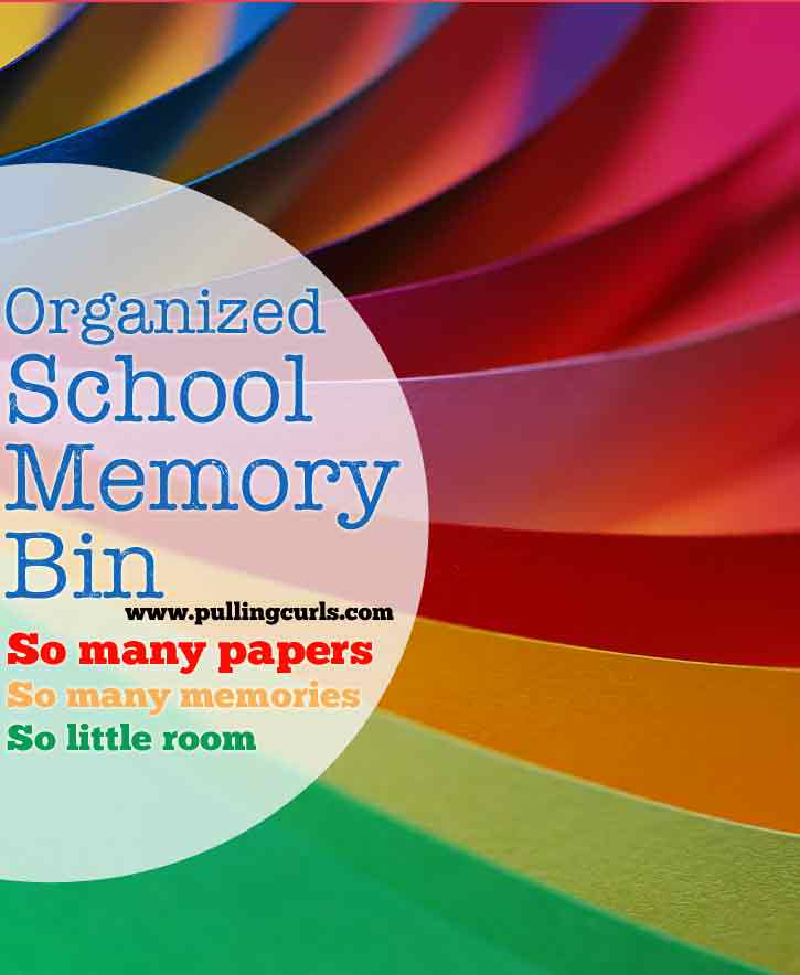 How to Declutter:  Kids papers -- this post shows how I use my school memory bin to only keep a certain amount of papers each year, and also keep them organized.