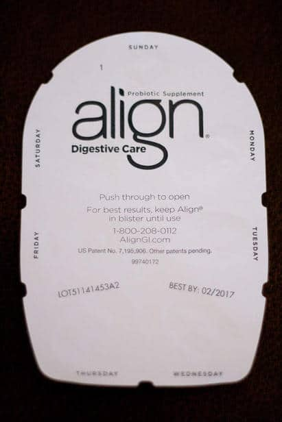 Align comes a handy package to remind you to take it daily!