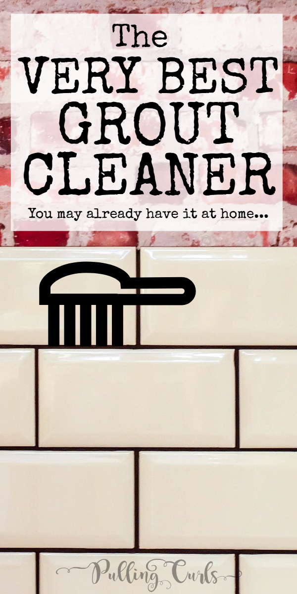 Clean grout on tile floors | cleaner | chores for children | lines | shower | tool | naturally | deep clean #grout #tile #cleaning via @pullingcurls
