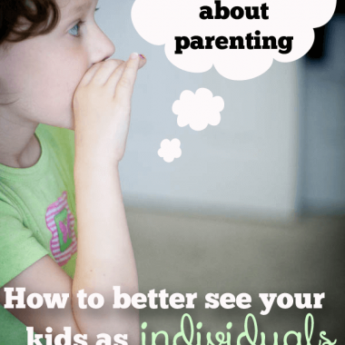 Do you ever group-parent your kids, when in reality each child needs their own methodology? I just read a book that changed how I parent and it's allowing each of my kids to be who THEY are. Would you like to parent like that?