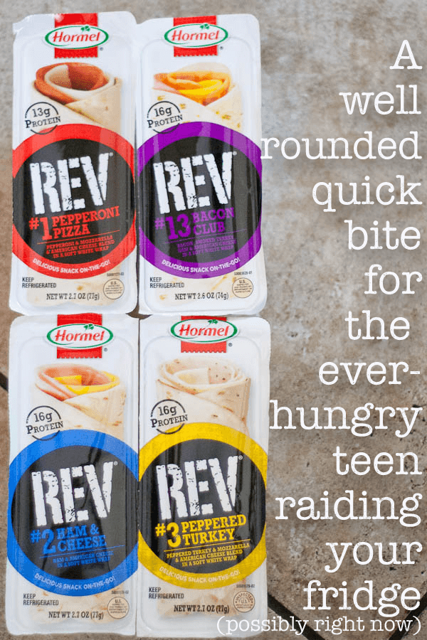 Hormel REV Wraps can help your teen get through those painfully hungry after school hours before their next activity.
