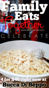 Eat Together this fall at Bucca Di Beppo with theig reat 4 for $40 offer! {coupon link inside!}