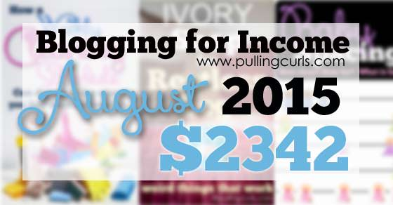 My August 2015 blogging income. I've started changing my sidebars, my Instagram account and my hosting. Come find out more!