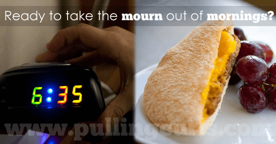 Are you ready for mornings to go better at your house? Some simple tricks for better mornings. Let's take the mourn out of mornings. #pullingcurls