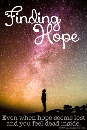 Hope is a funny thing, sometimes it's so hard to find, even though you know it will change everything once you have it.