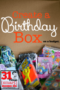 Things {Smart} Moms Do:  Create a Birthday Bin