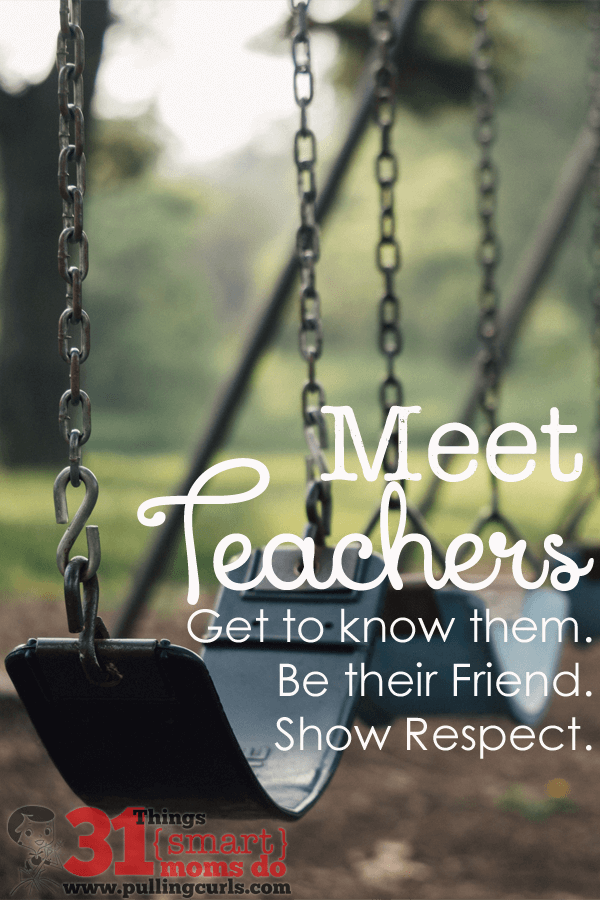 Meet your teacher. Be their friend. Find out about THEM. They have your child for more waking hours than you often do. Be there for them, like they are there for you. You might even find some perks along the way. #pullingcurls