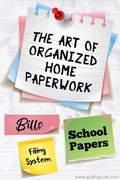Organizing paperwork at home can be really time consuming and confusing. What to save, what to keep -- where to put it all? Here's the art of the organized paperwork at home. via @pullingcurls