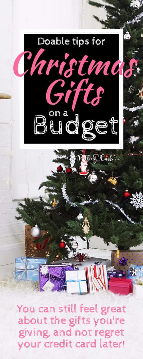 Christmas gifts on a budget / frugal / kids / rules / holidays