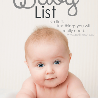 This baby list will help you save enough to be home with your baby for maternity leave but still get the essentials. No splurges here. Just black and white. Needs for the baby.