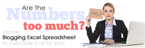 blogging spreadsheet footer