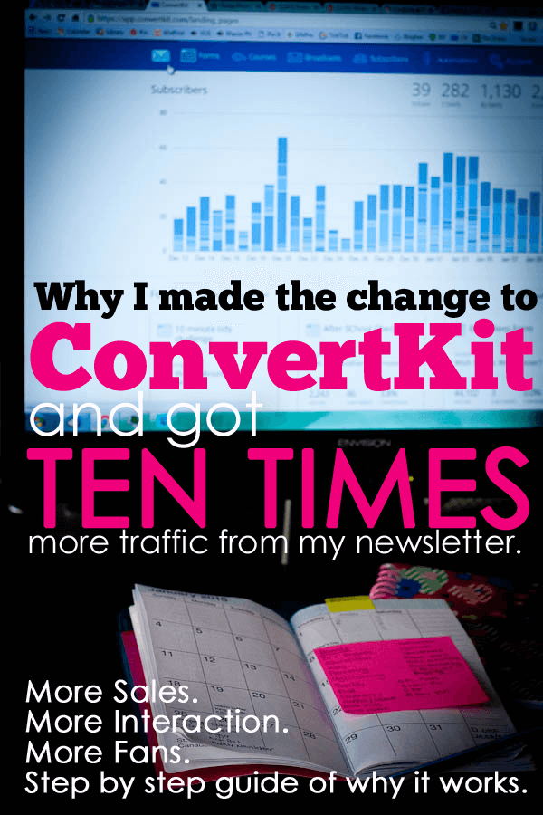 blogging newsletter | ConvertKit | conversions | traffic | blogger | email | tips | social media