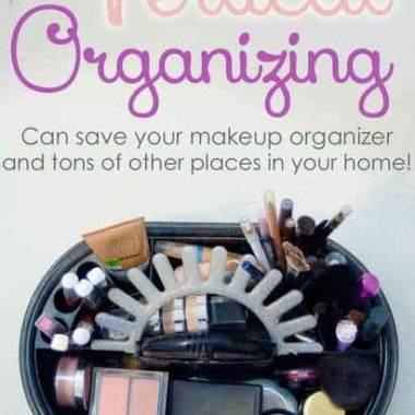 My disorganized makeup collection made me re-think organizing in many places around the house. Come see what I did to fix it!