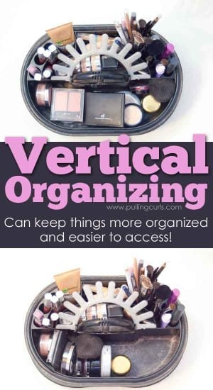 Vertical organizing can make anything you have many of more easy to find and access.