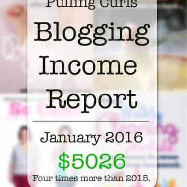 My January 2016 Blogging Income Report. My best month yet, but why?