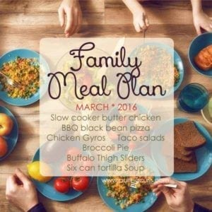 This family meal plan has great, healthy budget-friendly meals for your whole family!