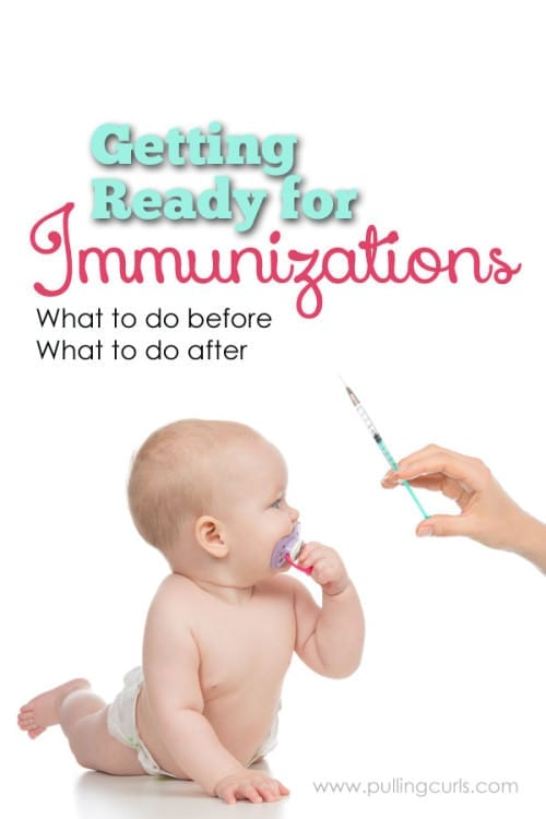 Getting shots is a lot for a baby and it's parents. Here's some things you can do before and after to make the day a little easier. How to get your baby immunization ready!