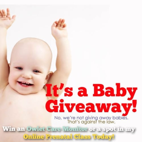 It's a baby giveaway! Check it out at Pulling Curls and enter for your chance to win a baby monitor or an online prenatal class!