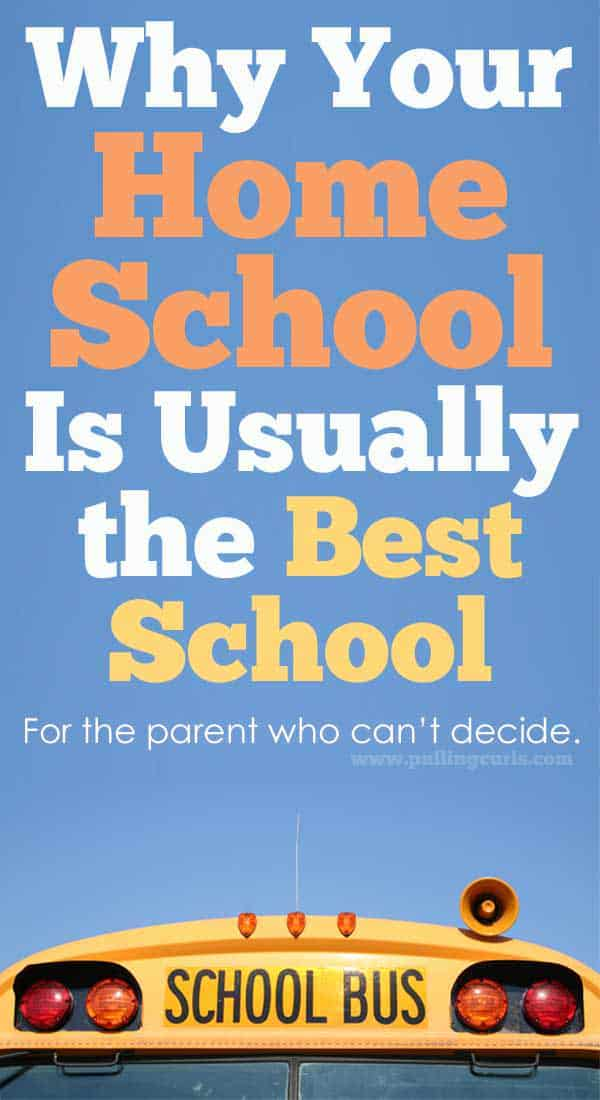 What school should I send my child to? Your home school, is often the best school. And here's why. via @pullingcurls
