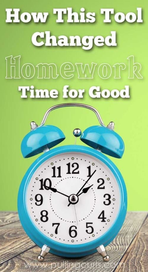 Hoping to find something to help homework time this year? Turns out time can be on your side in a new way, and it will also teach your child time management wih you by their side {but only for a while!}