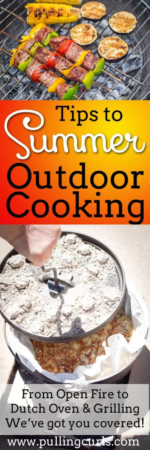 Interested in doing some outdoor summer cooking, but not sure where to start? This post has tons of tips from open flame, charcoal and even propane!