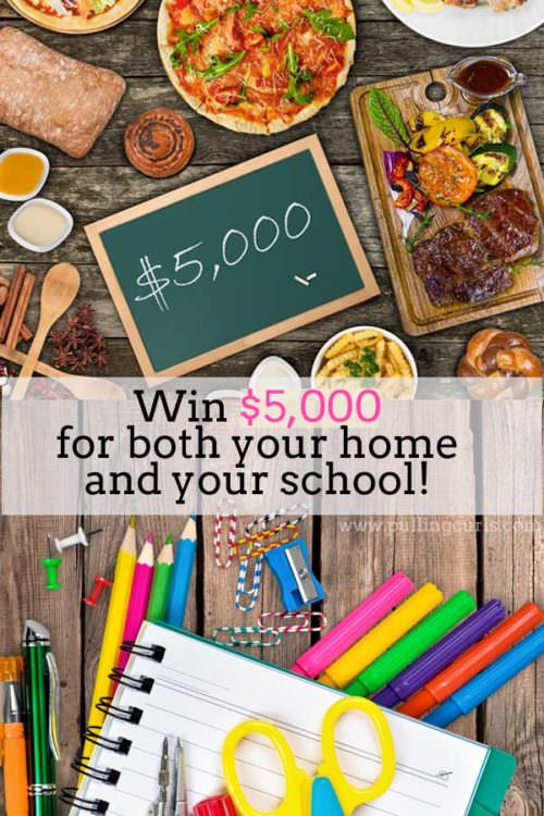 Want to win $5,000 for your home and $5,000 for the school of your choice? Enter to win today -- ends 6/5/16