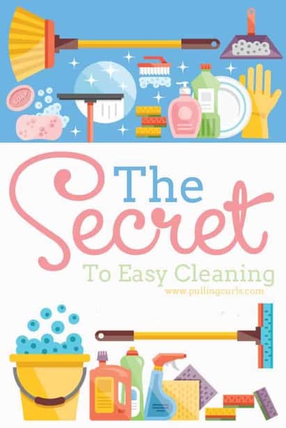 Yes, I WANT to know the secret to an easy clean at my house.  Tell me now!  Turns out it's simple.  Good advice is always simple!