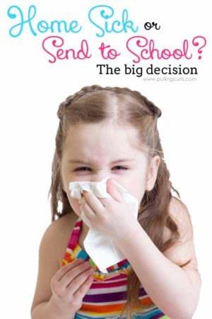 sick or school feature