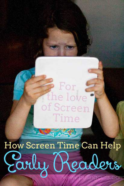 When kids choose reading, they're choosing to open their minds up to imagination and learning. With all the screens available anymore it's time to really focus on turning screen time into learning time! via @pullingcurls