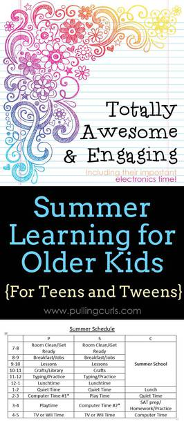 Summer learning is great when you just have small kids. If you're hoping for a summer NOT filled with electronics, see what I'm doing to create a balance in my summer program for teens. via @pullingcurls